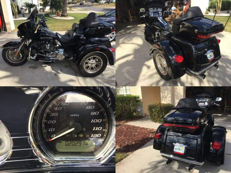 2018 Harley-Davidson Touring Triglide Ultra Classic FLHTCUTG Trike 2,087 Miles! Black used for sale