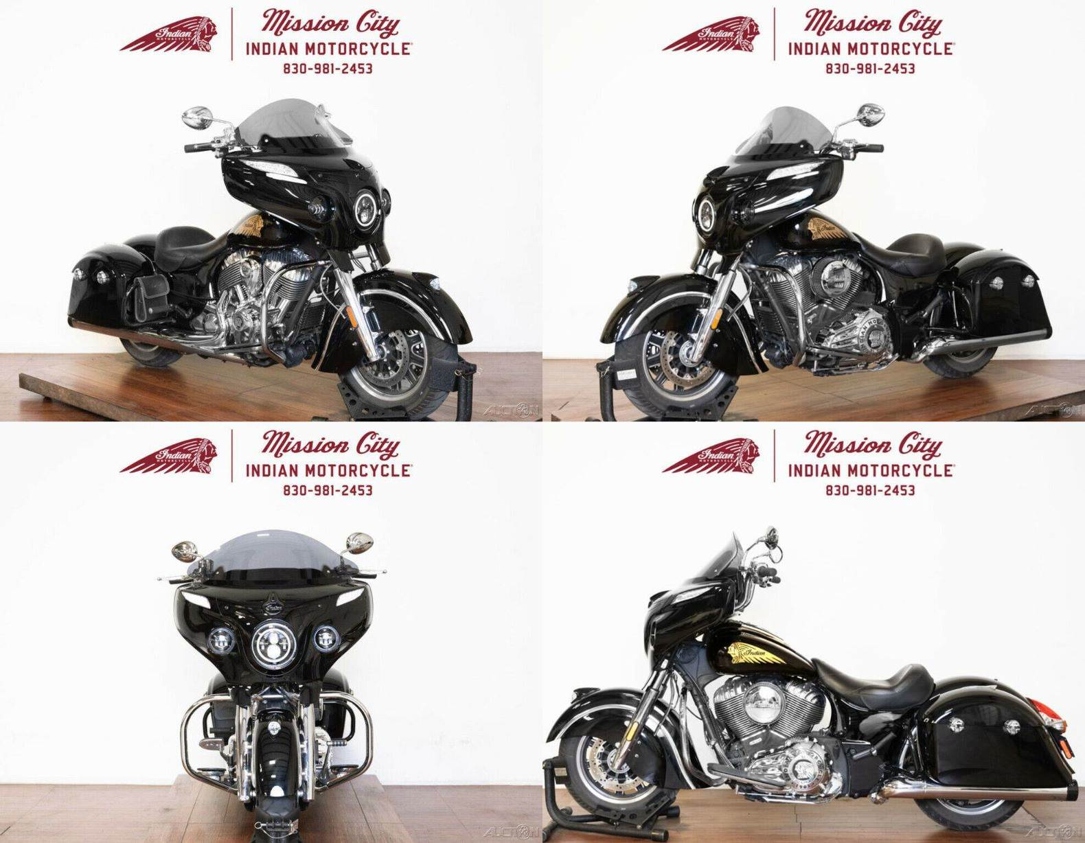 2018 Indian Chieftain Classic ABS Thunder Black Thunder Black used for sale