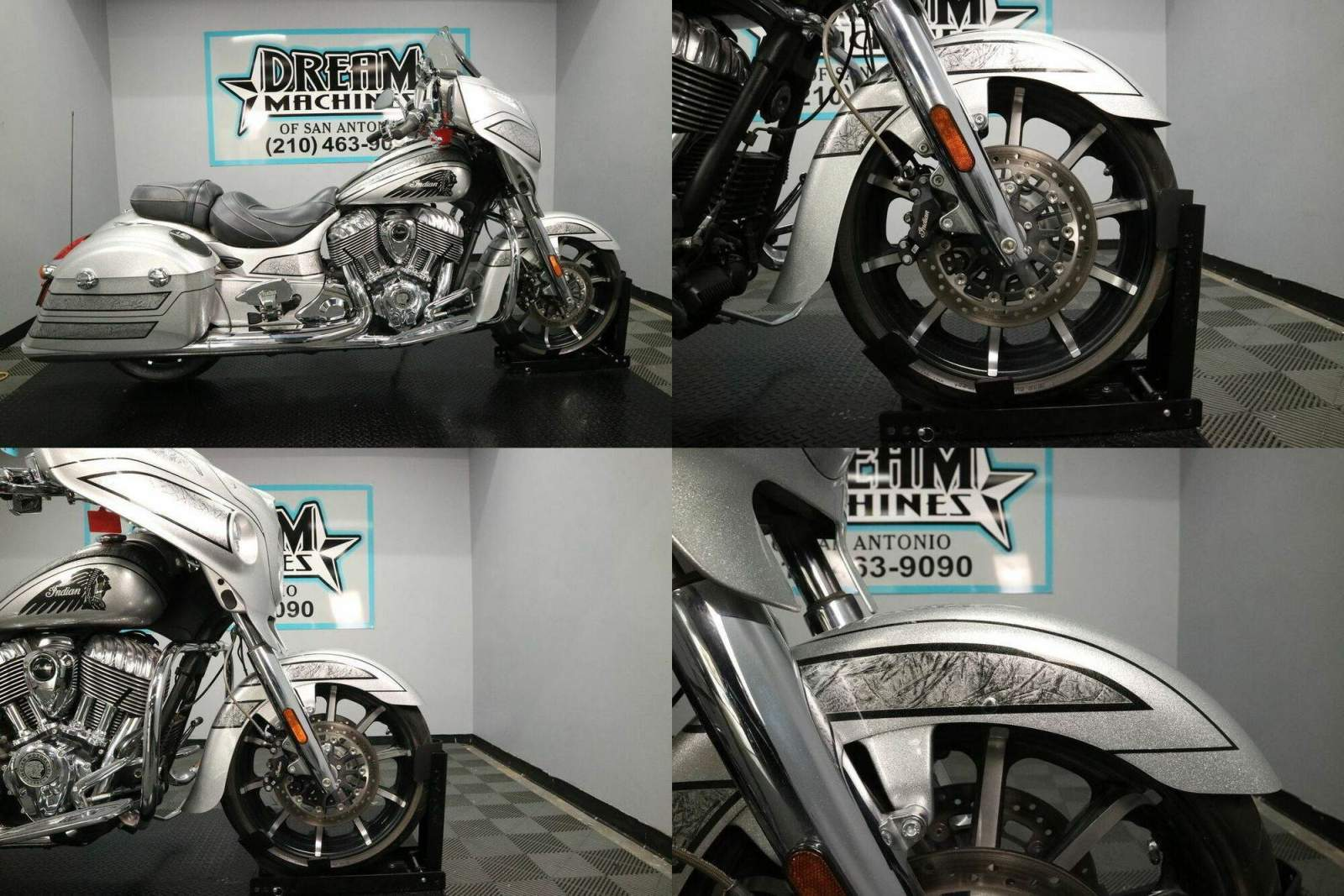 2018 Indian Chieftain Elite Black Hills Silver w Marble Accent Black used for sale craigslist