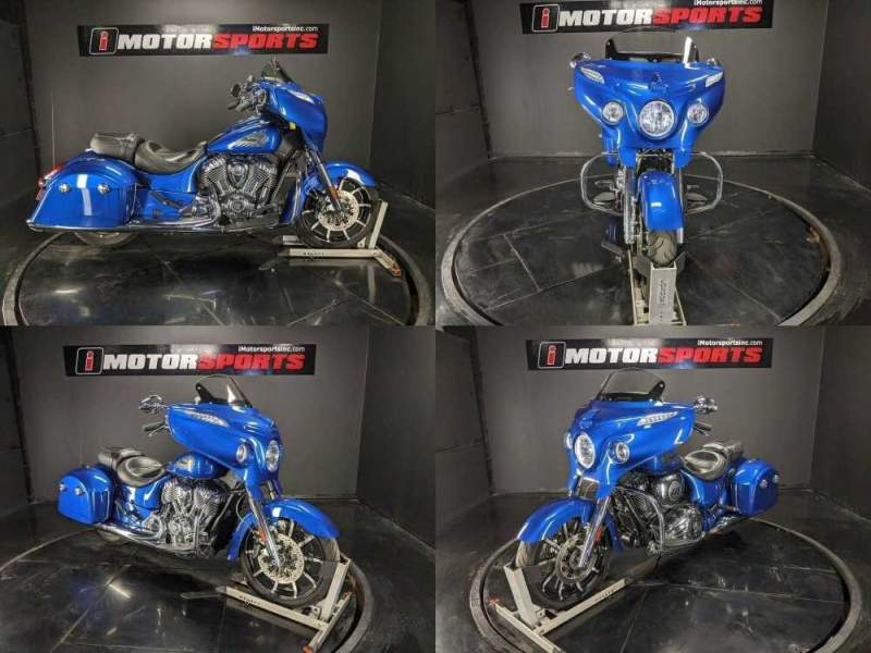 2018 Indian Chieftain Limited ABS Brilliant Blue Blue used for sale