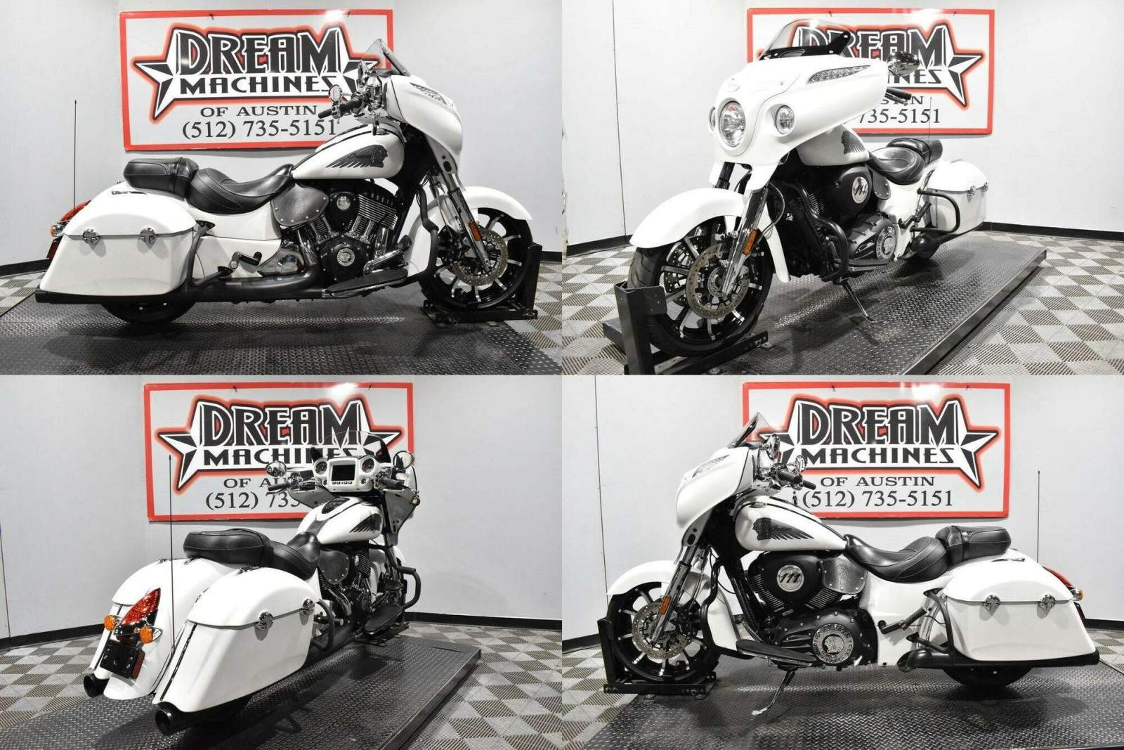 2018 Indian Chieftain Limited ABS White Smoke White used for sale