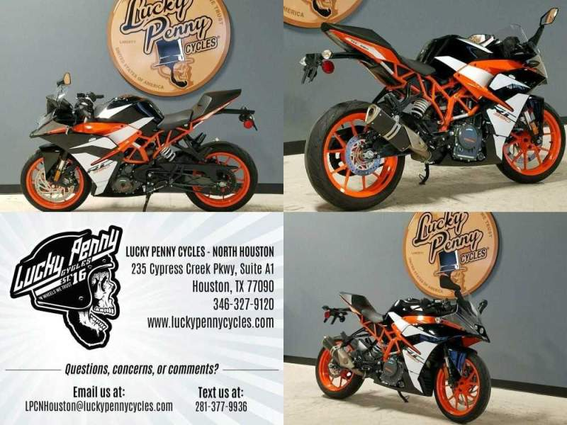 2018 KTM RC 390 Orange used for sale craigslist