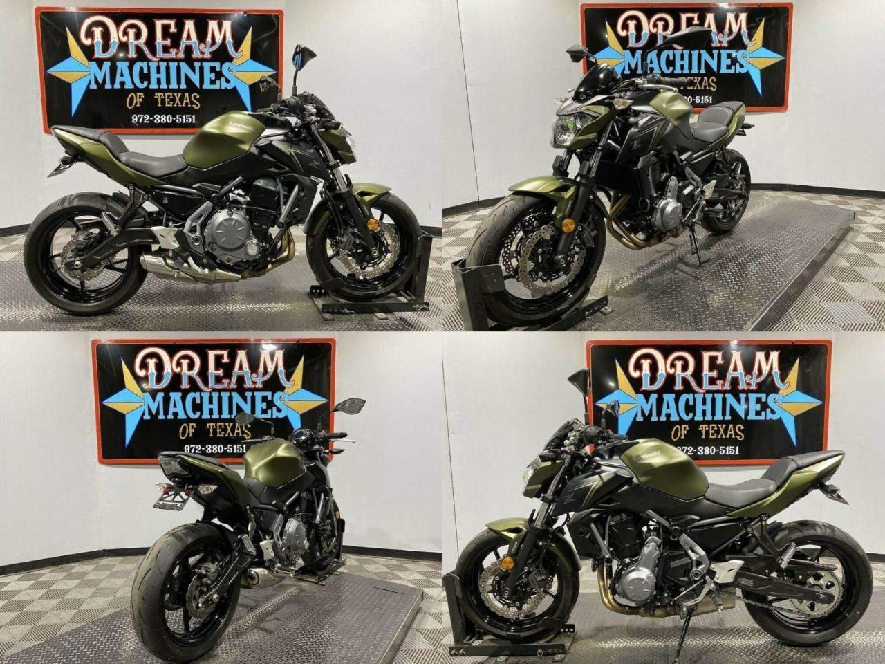 2018 Kawasaki Z650 ABS Green used for sale