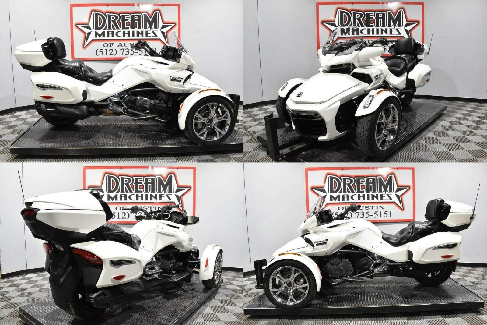 2019 Can-Am Spyder F3 Limited Chrome White used for sale