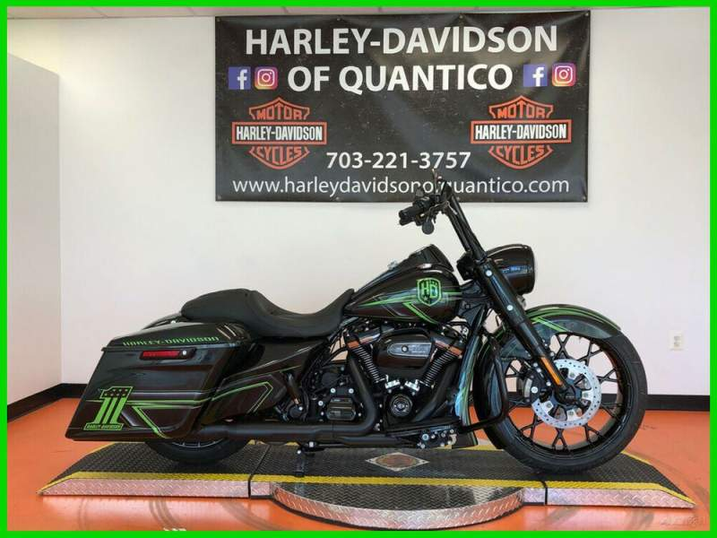 """2019 Harley-Davidson Touring Road King Special Quantico Custom 1 of 1 """"Mean Green"""" used for sale craigslist"""