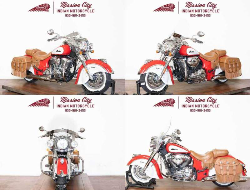 2019 Indian Chief Vintage Icon Series Patriot RedPearl White Patriot Red/Pearl White used for sale craigslist