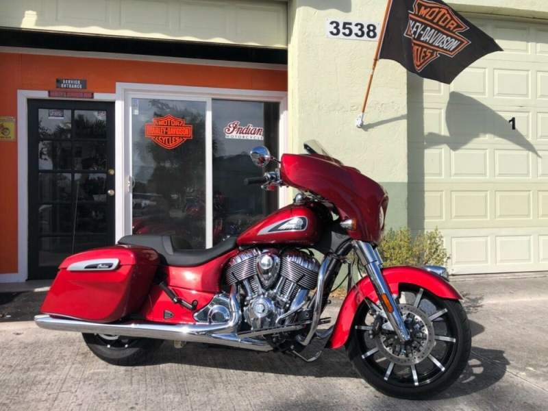 2019 Indian Chieftain Limited Ruby Metallic used for sale