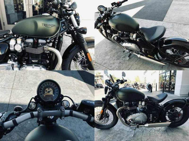 2020 Triumph Bonneville Bobber Matte Khaki Green/Jet Black Green used for sale craigslist
