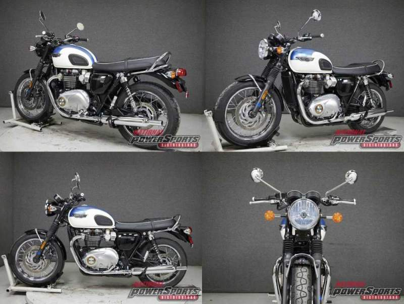 2020 Triumph Bonneville WABS FUSION WHITE/AEGEAN BLUE used for sale craigslist