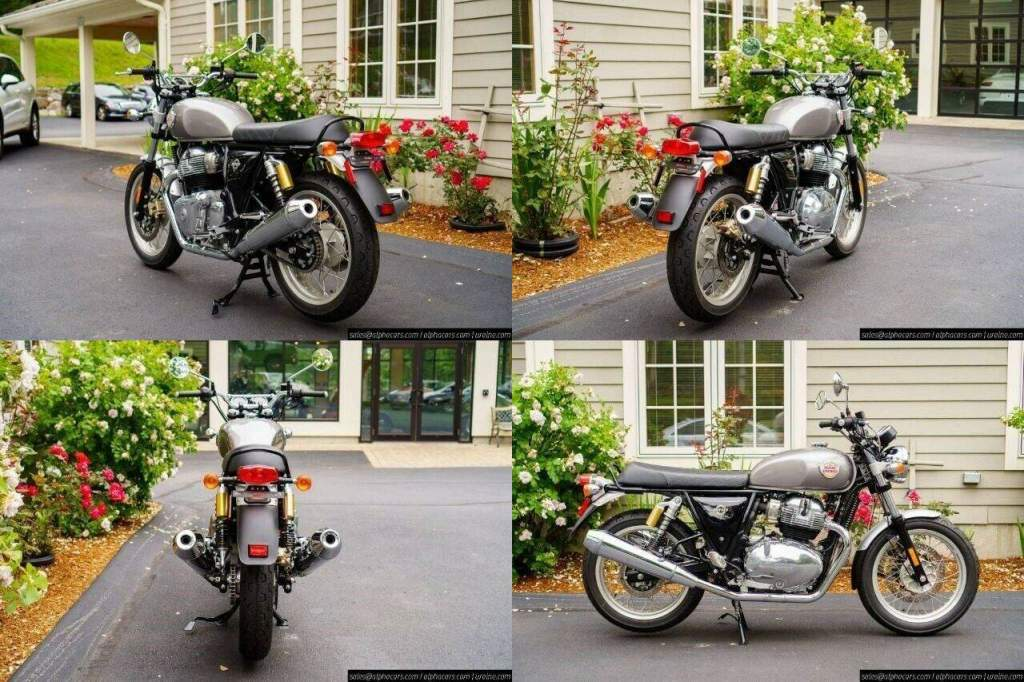 2021 Royal Enfield Interceptor INT650 Silver Spectre Silver new for sale
